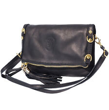 Clutches Bag Italian Genuine Leather Hand made in Italy Florence 9603 bk