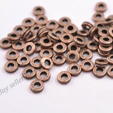 50Pcs Tibetan Silver Copper Charms Spacer Beads Jewelry Findings 6MM D3039