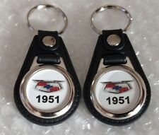 1951 CHEVROLET KEYCHAIN FOB 2 PACK CLASSIC MUSCLE CAR LOGO CHEVY FOB