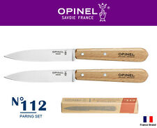 Opinel France No112 Paring 100mm Blade 2pcs Paring Knife Box