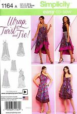 Simplicity Sewing Pattern 1164 Women's XS-XL easy Wrap Twist and Tie Skirt dress