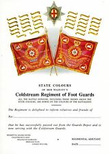 STATE COLOURS OF THE COLDSTREAM GUARDS-SCROLL-MINT CONDITION-BRIGADE OF GUARDS