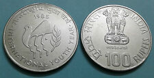 100 Rs 1985 International youth year Very rare UNC coin