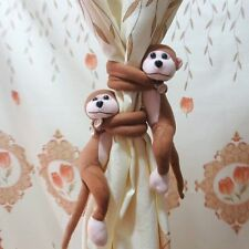 Novelty Plush Monkey Curtain Tie Hold Backs for Children Bedroom Nursery Decor