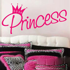 Princess Vinyl Wall Decal Quote Sticker For Children'S Bedroom Pink Color