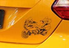 """Gráficos k1600gtl, auto-moto-adhesivo para el K 1600gtl """"Moto-BMW-conductor"""""""
