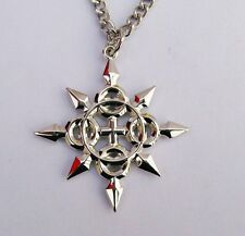 Kingdom Hearts Axel Chakrams Eternal Flames Charm Pendant Cosplay Necklace
