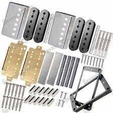 LP Guitar Humbucker Pickup Kits Accessories/Brass Cover&Baseplate&Unmagnetized