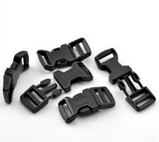 10 x 6.7cm Curved Black Plastic Buckles Buckle Side Release For 25mm Webbing Q37