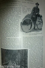Rare Old Victorian Antique 1898 Photo Article Cycling Around the World Bicycle