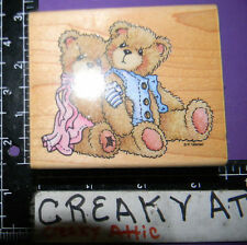 CHERISHED TEDDY BEARS SETH AND SARABETH RUBBER STAMP STAMPENDOUS TV003