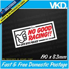 No Good Racing Sticker/ Decal - JDM CLUB JAPAN VINYL SPARKLES RARE HONDA OSAKA