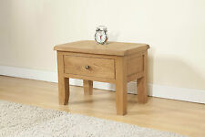 SOLID CHUNKY WOOD RUSTIC OAK COFFEE LAMP SIDE TABLE WITH DRAWER