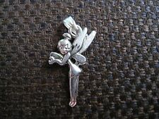 Tibetan silver necklace pendant charm  Tinkerbell fairy pixie ELGR