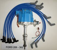 FORD Small Block 221,260,289 & 302 BLUE HEI Distributor & Spark Plug wires USA
