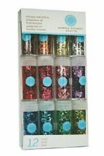 MARTHA STEWART Glitter 12 vials COLOURS 40-34014 VINTAGE LEAF GLITTER Dimension