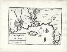 Antique maps, gouvernement de blauvet