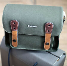 Canon Rebel SL1 T6 T6i T2i T3I Canvas Camera Case Mini Bag Shoulder Strap Khaki