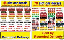 126 x Slot car / Scalextric Barrier stickers Model Race Logo Lego adhesive vinyl