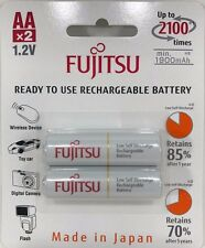 Fujitsu - HR-3UTCEX - AA Ni-MH Pre-Charged Rechargeable Batteries 2000mAh 2-Unit