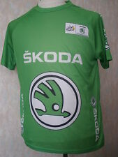 TEE SHIRT SUPPORTER MAILLOT VERT SKODA TOUR DE FRANCE NEUF