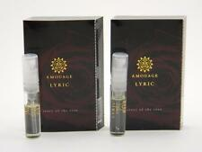 2 x Amouage LYRIC MAN EDP 2ml Vial Sample SPRAY New With Card