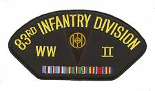 83rd Infantry Division WWII Black Hat Patch