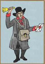 Postbote: Bote der hamburgischen Fußpost 1808, Jubiläumspostkarte 500 Jahre Post
