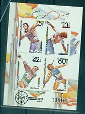 "SPORTS - BULGARY 1990 ""Olyphilex '90"" block"