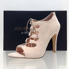 Women's Sole Society Mandee Open Toe Lace Up Pumps Beige Size 9.5 M NEW
