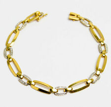 Paris um 1930 Art Deco 0.7 ct Diamant Armband in Gold & Platin Diamond Bracelet