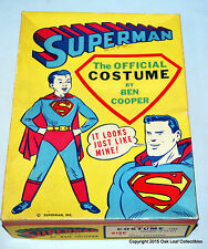 Superman Kids Costume Ben Cooper 1960's #288 Med 8-10 in nice box!