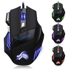 Mouse 5500 DPI LED 7 Button USB Optical Ottico Wired Gaming Mouse Per Pro Gamer
