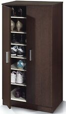Alfy Wenge Dark Espresso Brown Shoe Cabinet Cupboard Storage Rack Unit