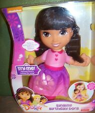 Nickelodeon Dora The Explorer Singing Birthday Dora Doll NEW IN BOX