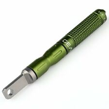 EDC gear tool CNC Magnesium Bar Flint Fire Starter Waterproof Survival Kit Green