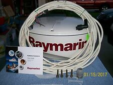 "RAYMARINE PATHFINDER RD218 18"" 24NM RADOME W 15M INTERCONNECT CABLE AND MANUAL."