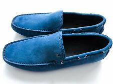 $750 BRIONI Light Blue Suede Shoes Loafers Moccasins Size 9 US 42 Euro 8 UK