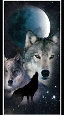 "Night Wolves Beach Towel (30"" X 60"")"