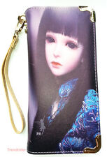 Canvas Print Anime Dollfie Big Eyes Girl Full Size Zip Around Wallet Wrislet