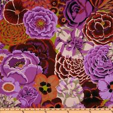 KAFFE FASSETT FLOWERS Fabric Fat Quarter Cotton Bekah Plum