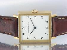 GIRARD PERREAGUX 18K YELLOW GOLD VINTAGE MENS MECHANICAL WATCH SQUARE MODEL