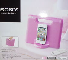 Sony RDP-M7iP Pink Portable iPhone / iPod Speaker Dock Boombox RDPM7iP