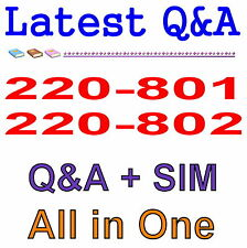 CompTIA CompTIA A+ Certification 220-801 220-802 2-in-1 Exam Q&A PDF+SIM