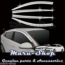 Chrome Door Window Vent Visor Deflector/6pcs for 16+ Kia Optima