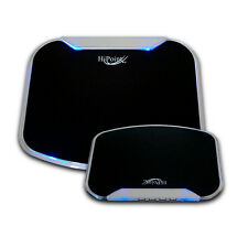 GAMING ANTI-SLIP HIGH SPEED 4 PORT USB 2.0 HUB MOUSE MAT WITH BLUE LEDS