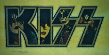 KISS glitter letters group aucoin vintage retro tshirt transfer print new, NOS