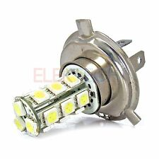 AS Vision 5050 18 SMD White Auto Led H4 Socket Fog Light Lamp Bulb 12Volts New
