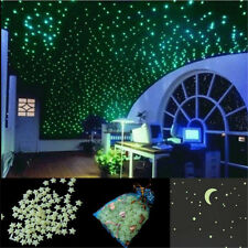 200Pcs Glow In The Dark Star Plastic Shape for Ceiling Wall Kid Bedroom Stickers