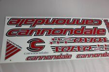 CANNONDALE red vinyl decals bike stickers frame replacement set